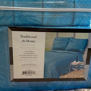 Traditional At Home  6pc Sheet Set King